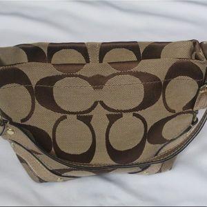Small Signature Coach Shoulder Bag (Authentic)